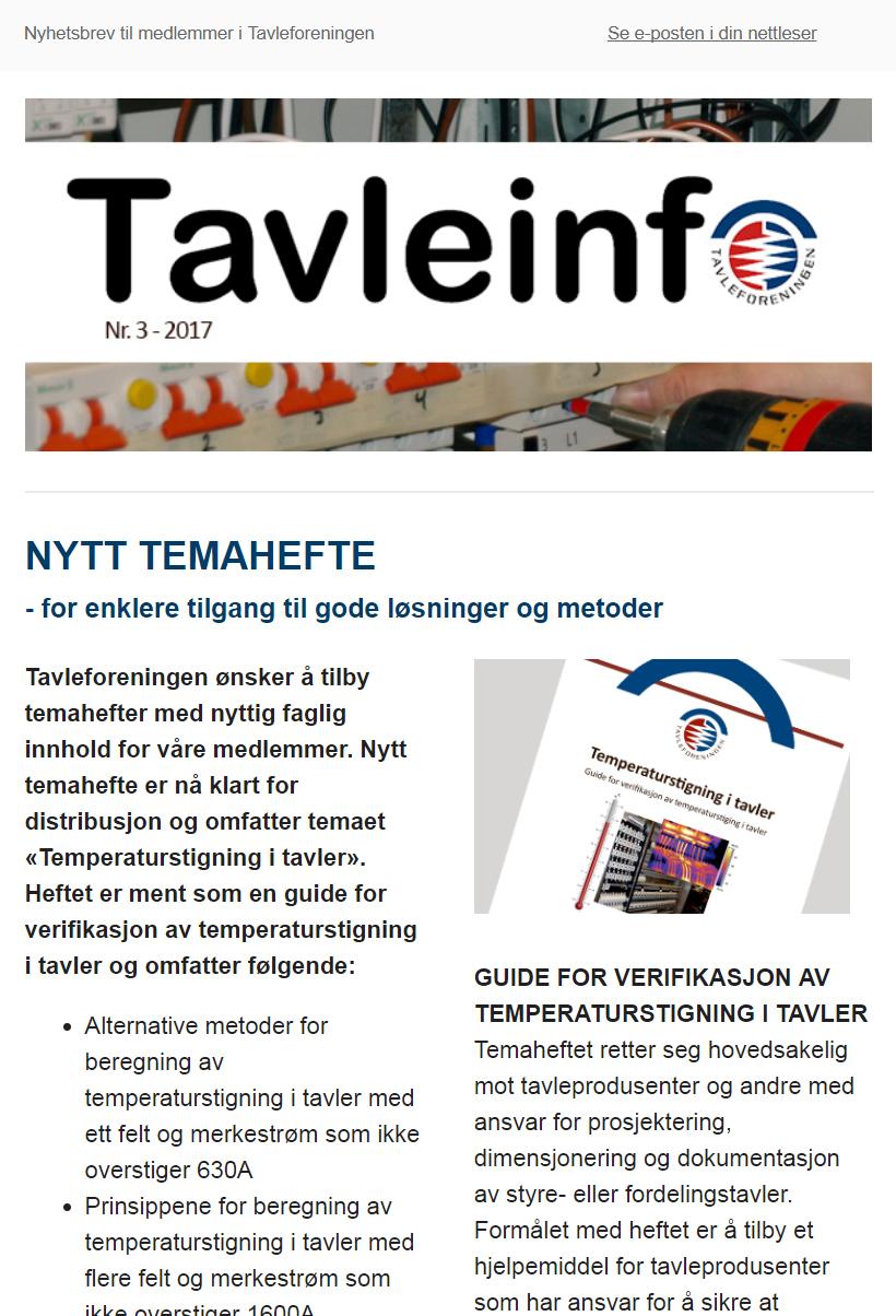 Tavleinfo - medlemsinformasjon